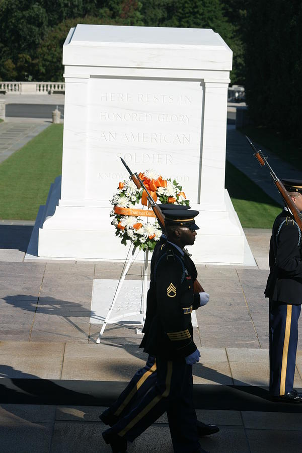 Arlington National Cemetery - Tomb Of The Unknown Soldier - 121213 Photograph  - Arlington National Cemetery - Tomb Of The Unknown Soldier - 121213 Fine Art Print