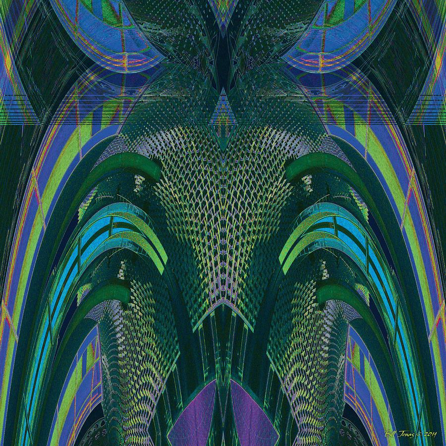 Abstract Digital Art - Armadillus Rex by Bill Jonas