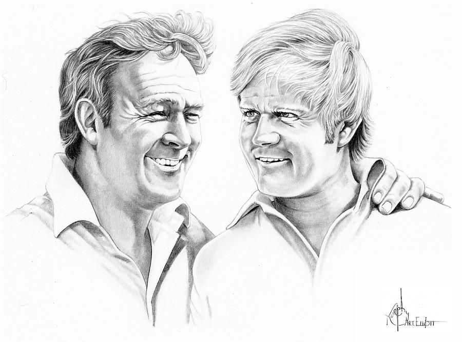 Arnold Palmer-jack Nicklaus Drawing