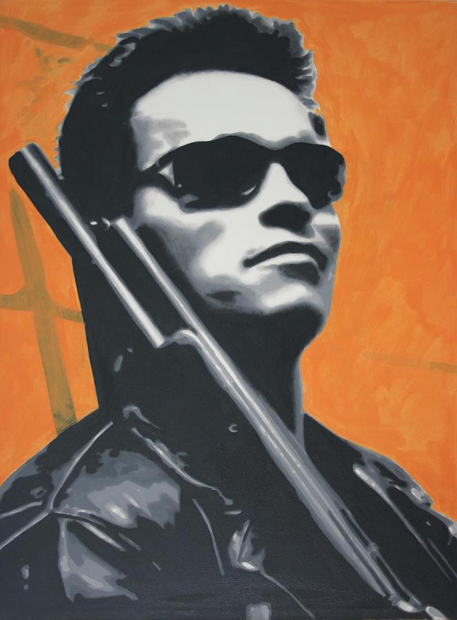 Arnold Schwarzenegger 2013 Painting