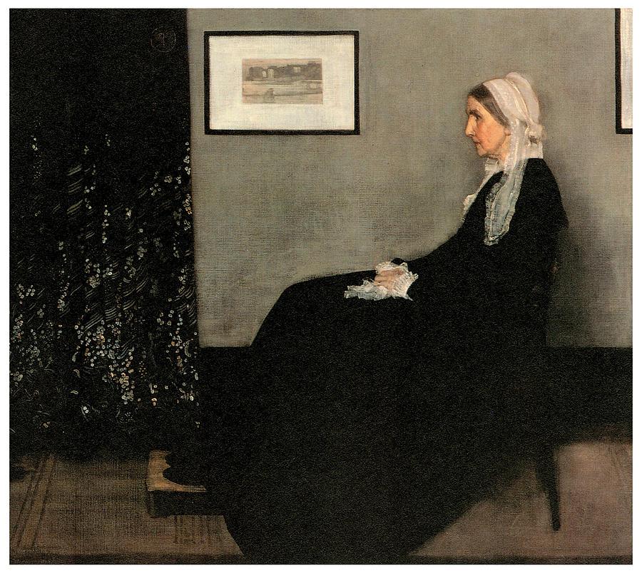 James Abbott Mcneill Whistler Painting - Arrangement In Grey And Black No 1 by James Abbott McNeill Whistler