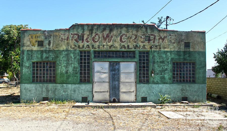Arrow Creamery - Chino Ca Photograph  - Arrow Creamery - Chino Ca Fine Art Print