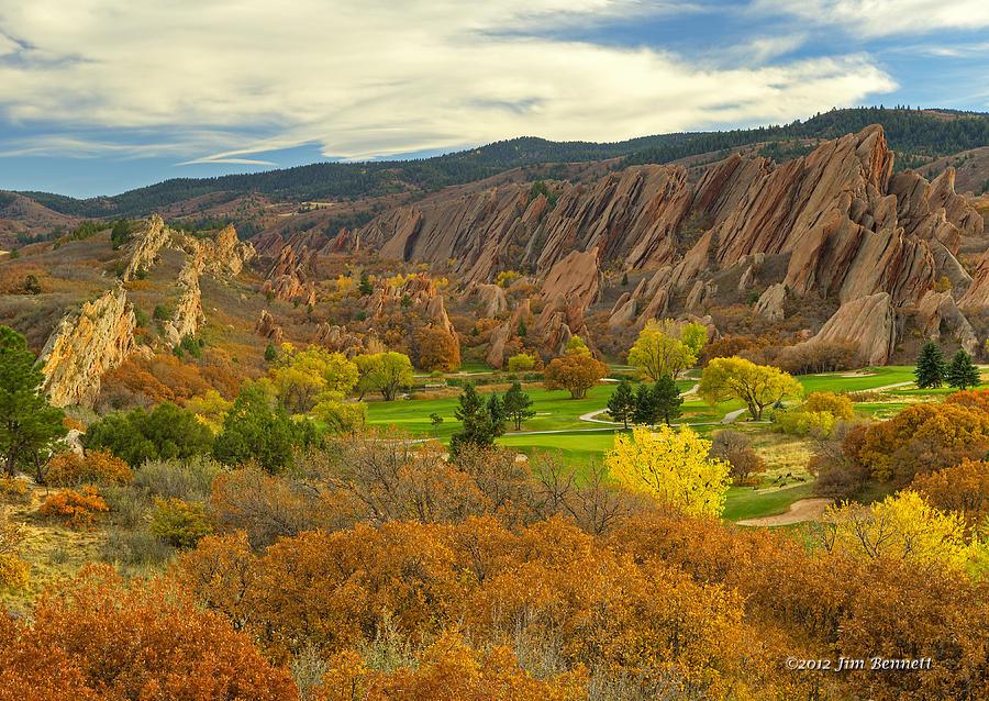 Arrowhead Golf Club Photograph - Arrowhead Autumn Color by Jim Bennett