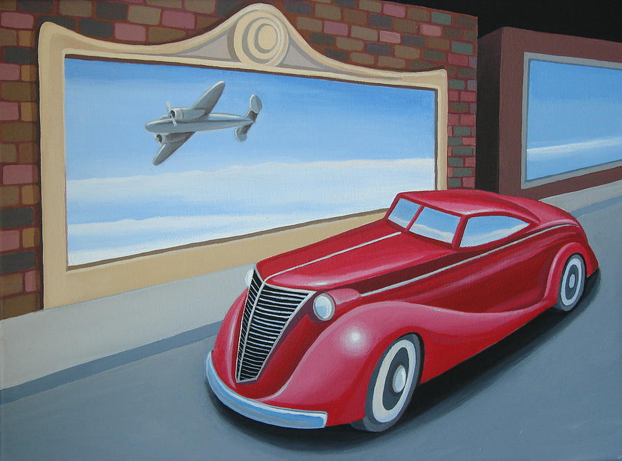 Art Deco Coupe Painting  - Art Deco Coupe Fine Art Print