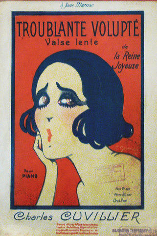 Art Deco French Music Sheet Troublante Volupte Drawing