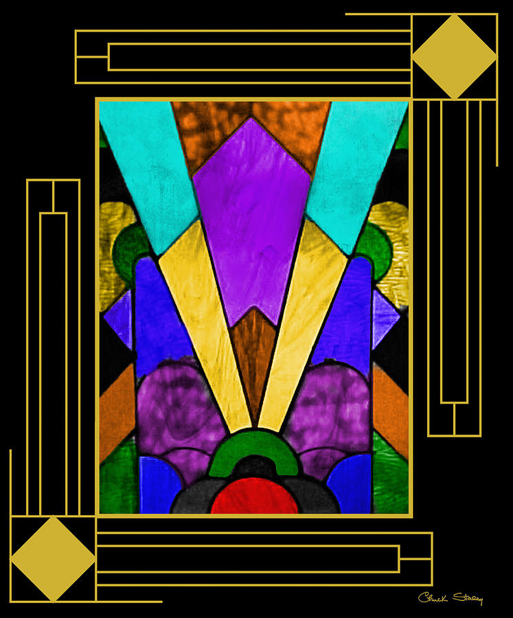 Art Deco Stained Glass Digital Art - Art Deco - Stained Glass by Chuck ...