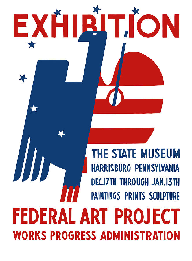 Wpa Digital Art - Art Exhibition The State Museum Harrisburg Pennsylvania by War Is Hell Store