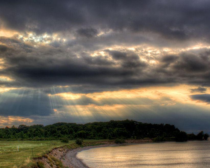 Lake Ontario Photograph - Art For Crohns Lake Ontario Sun Beams by Tim Buisman
