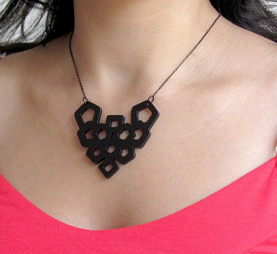 Art Nouveau Geometric Necklace Jewelry