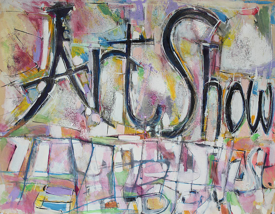 Mixed Media Collage Painting Painting - Art Show by Hari Thomas