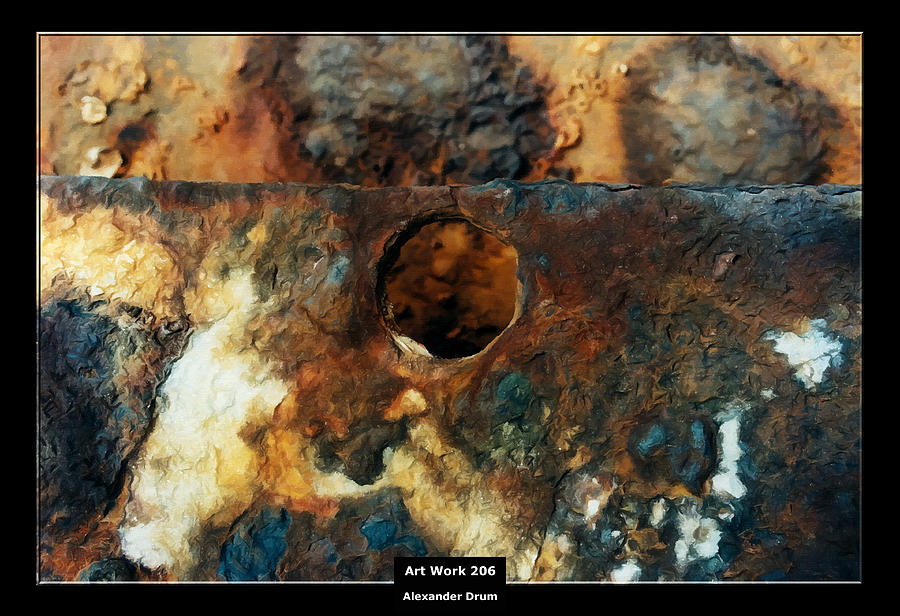 Art Work 206 Ship Rust Painting