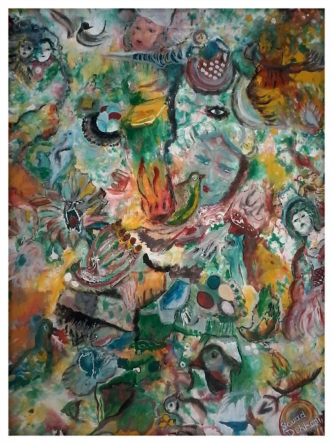 Artds nature et decouvertes painting by souad dehhani for Chaise hamac nature et decouverte