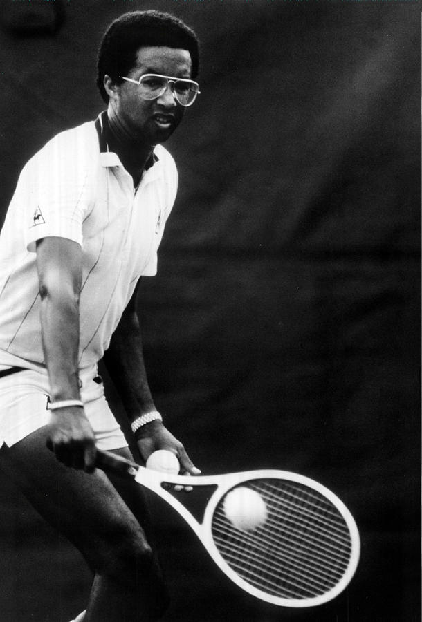 Arthur Ashe Playing Tennis Photograph