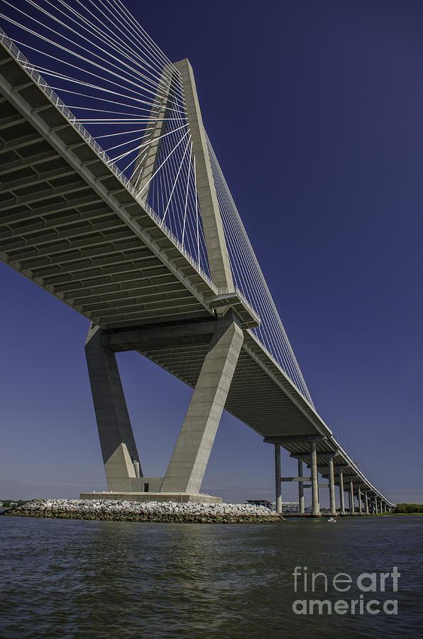 Arthur Ravenel Bridge By Boat Photograph