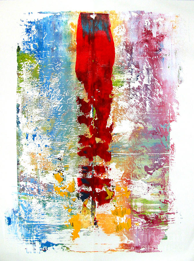 Artifact Monoprint Painting  - Artifact Monoprint Fine Art Print