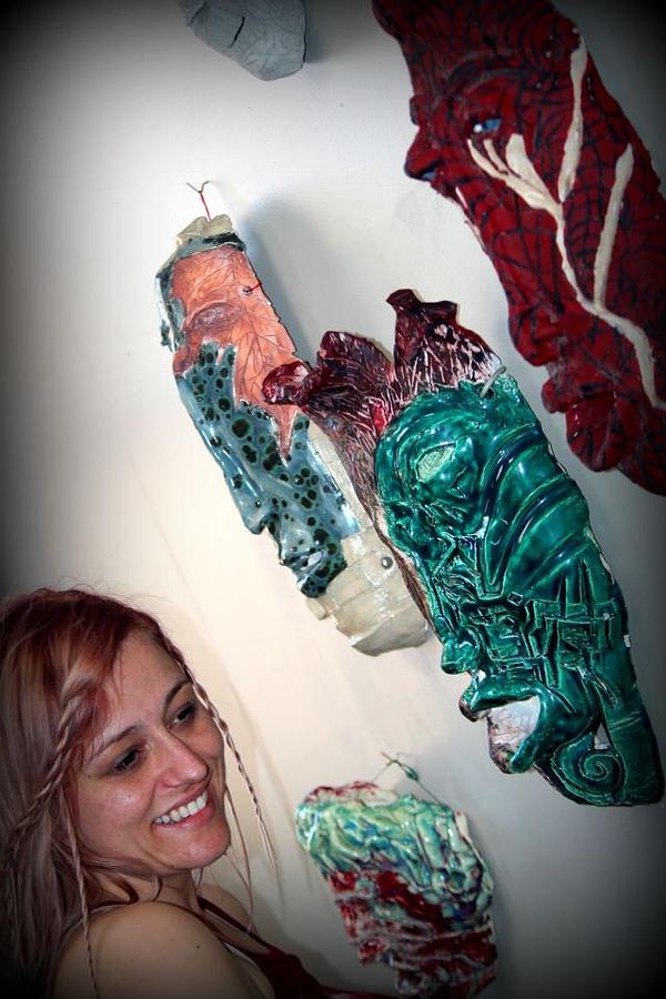 Ceramic Art - Artist And Ceramic Work by Wynter Peguero