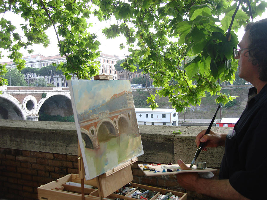 Artist At Work Rome Photograph