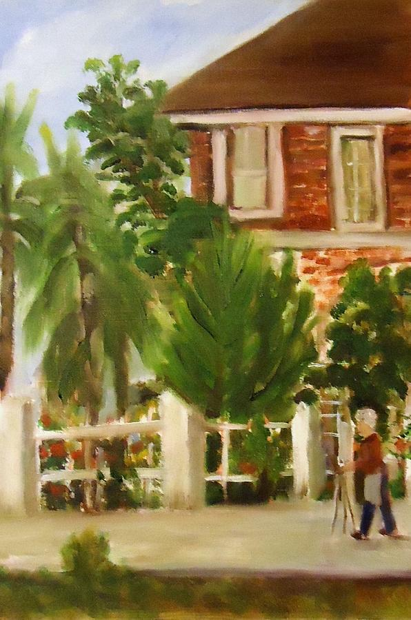 Artist In Galveston Painting  - Artist In Galveston Fine Art Print