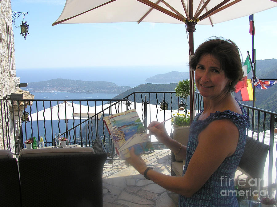 Artist Painting Monaco Photograph