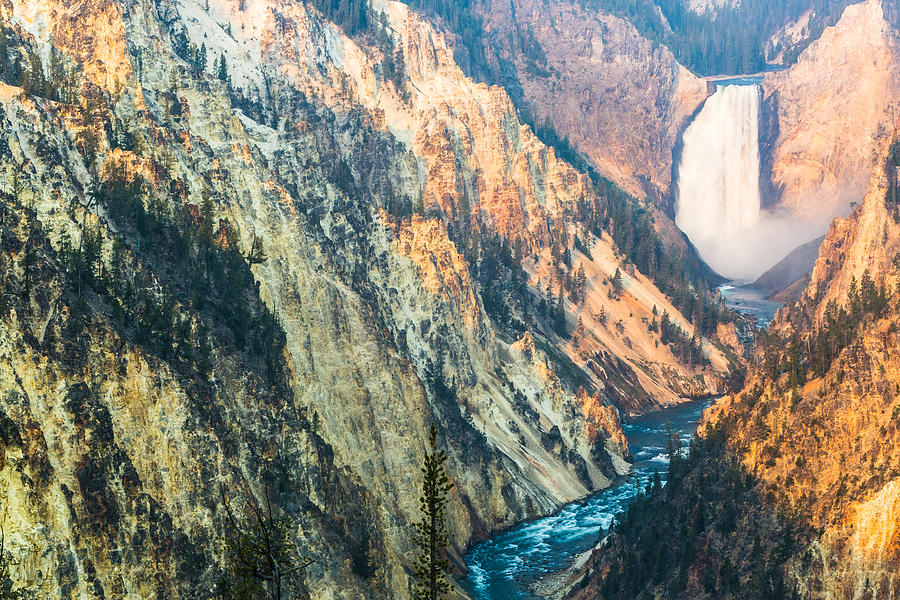 Artist Point - Yellowstone Park Horizontal Photograph