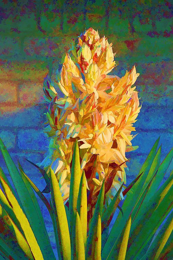 Artistic Yellow Yucca Digital Art