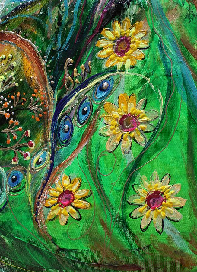Jewish Art Prints Painting - Artwork Fragment 61 by Elena Kotliarker