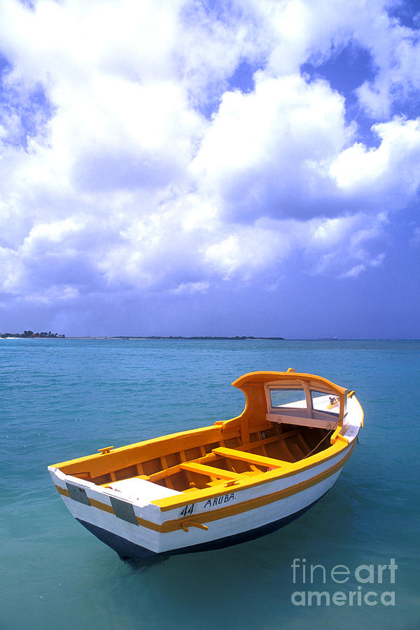 Aruba. Fishing Boat Photograph