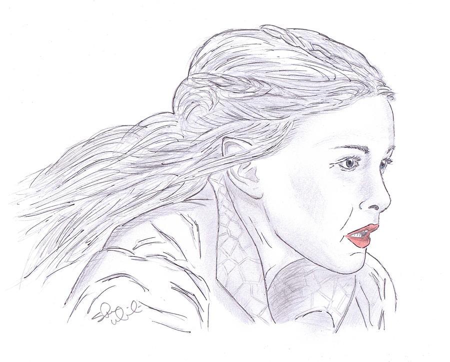 Arwen Riding Drawing