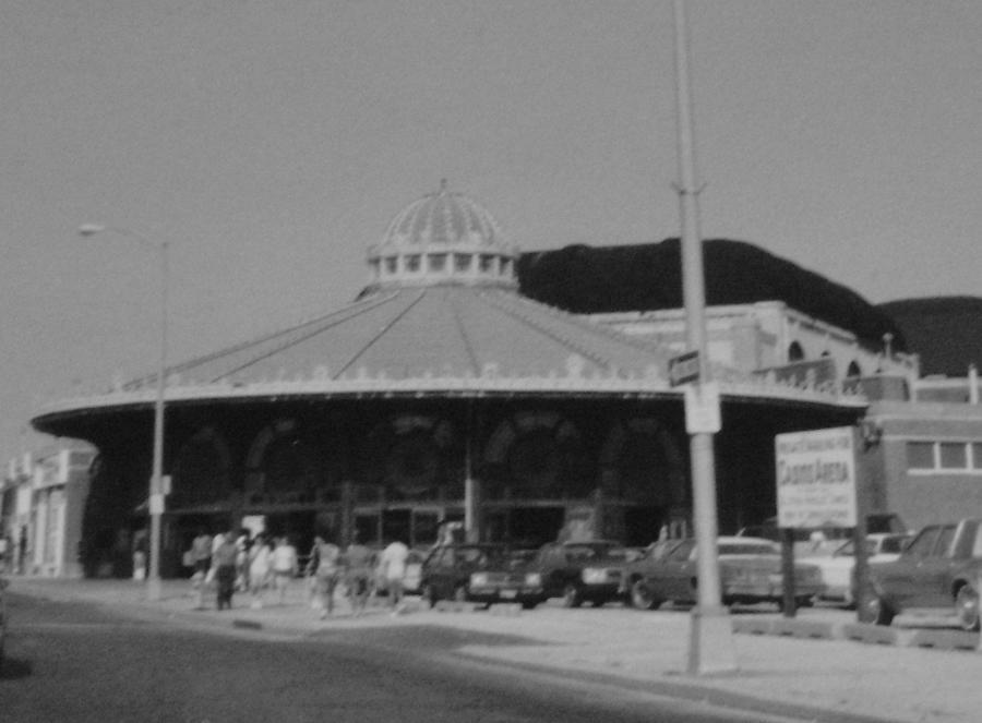 Asbury Photograph - Asbury Park Nj Carousel Bw by Joann Renner