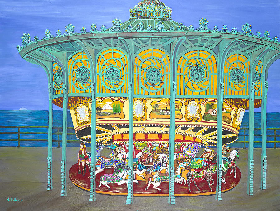 Asbury Park Painting - Asbury Park Yesteryear by Norma Tolliver