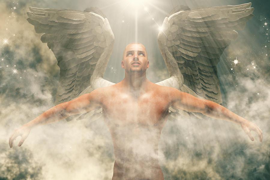 Ascending Angel Digital Art