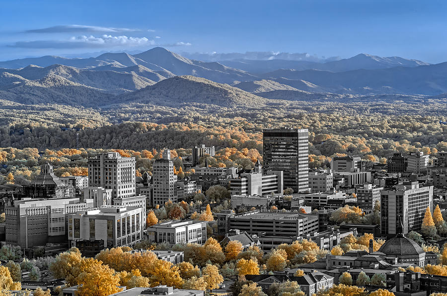 Asheville In Infrared Photograph