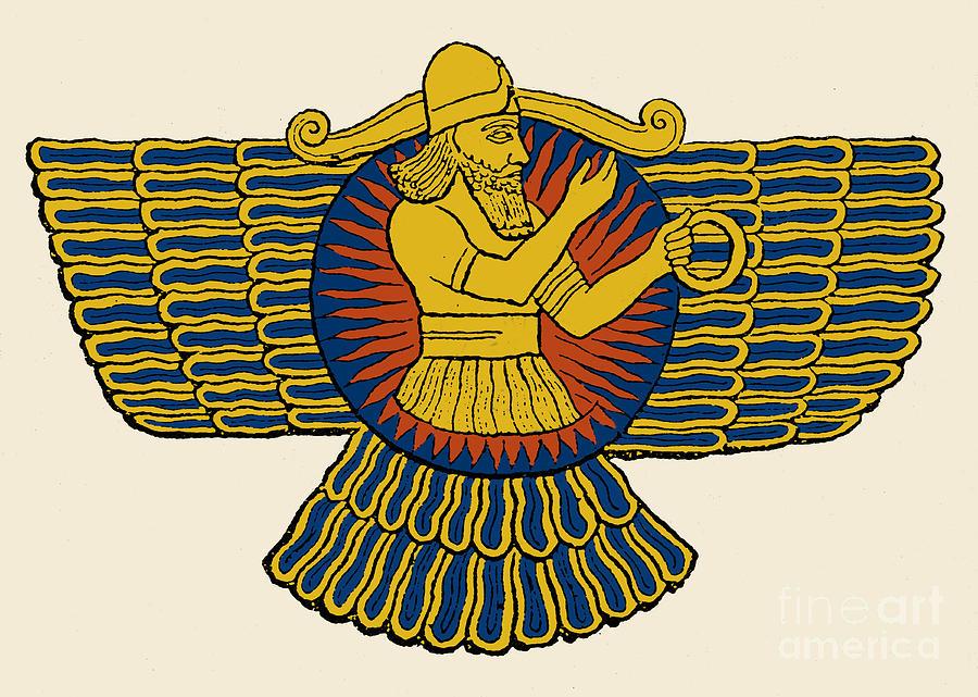 Ashur  Assyrian God PhotographAssyrian Gods