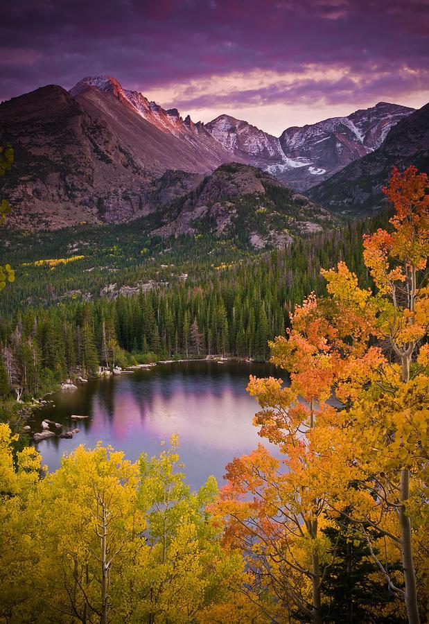 Aspen Sunset Over Bear Lake Photograph