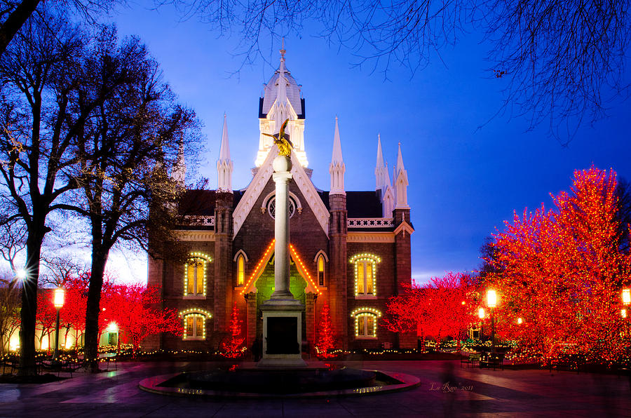 Temple Photograph - Assembly Hall Slc Temple by La Rae  Roberts