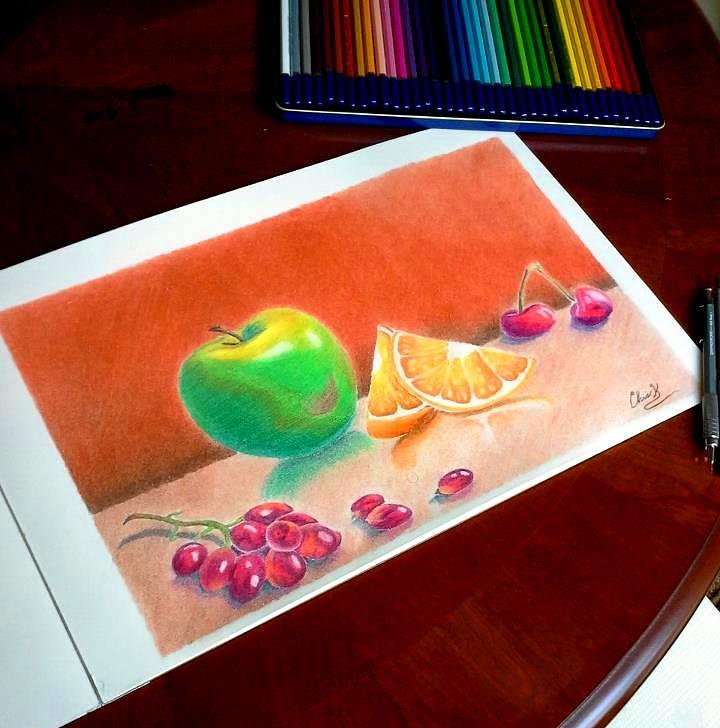 Assorted Fruit Drawing