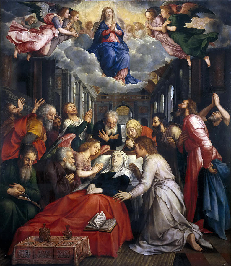 Assumption And Ascension Of The Virgin Painting By Michiel