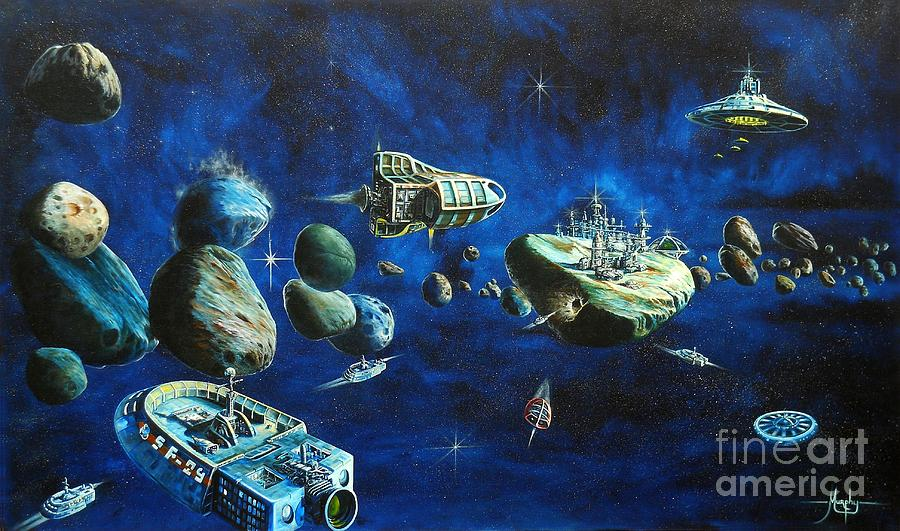 Asteroid City Painting  - Asteroid City Fine Art Print