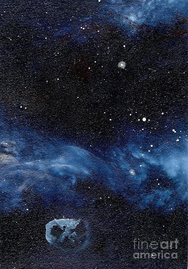Asteroid With Attitude Painting  - Asteroid With Attitude Fine Art Print