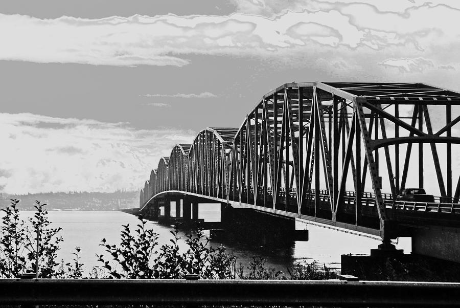 Astoria Bridge Wa. Side Photograph  - Astoria Bridge Wa. Side Fine Art Print