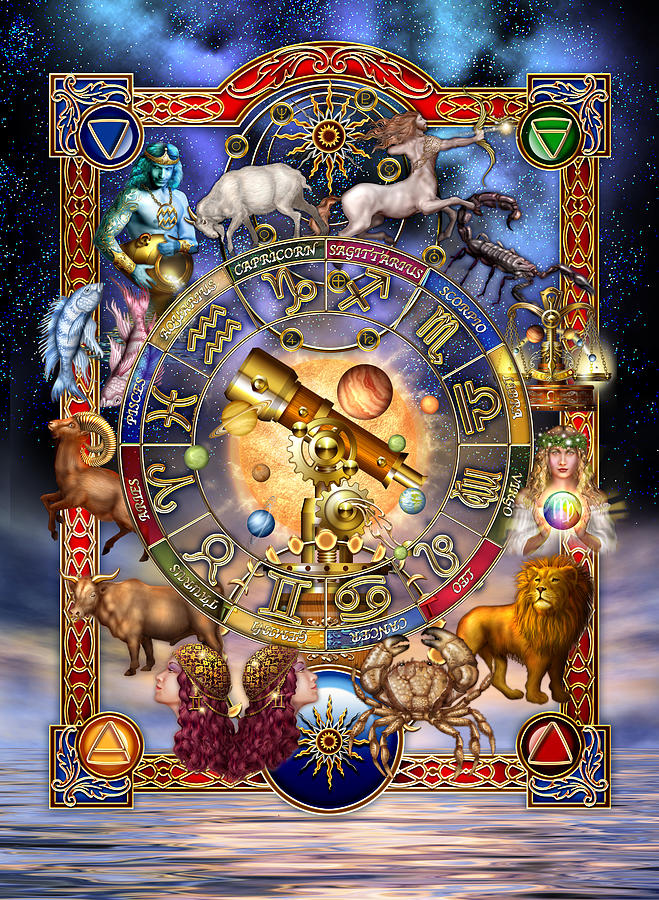 Astrology Digital Art  - Astrology Fine Art Print