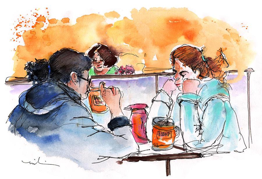 Travel Painting - At Nashville Ihop by Miki De Goodaboom