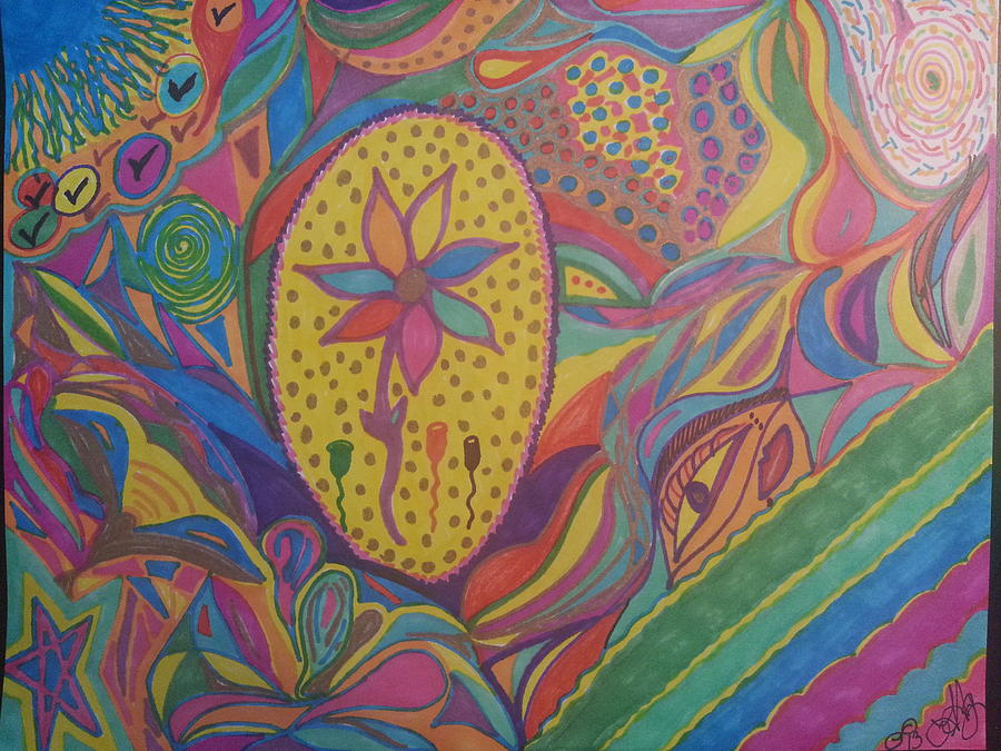 Drawing - At Peace by Felicia Anguiano