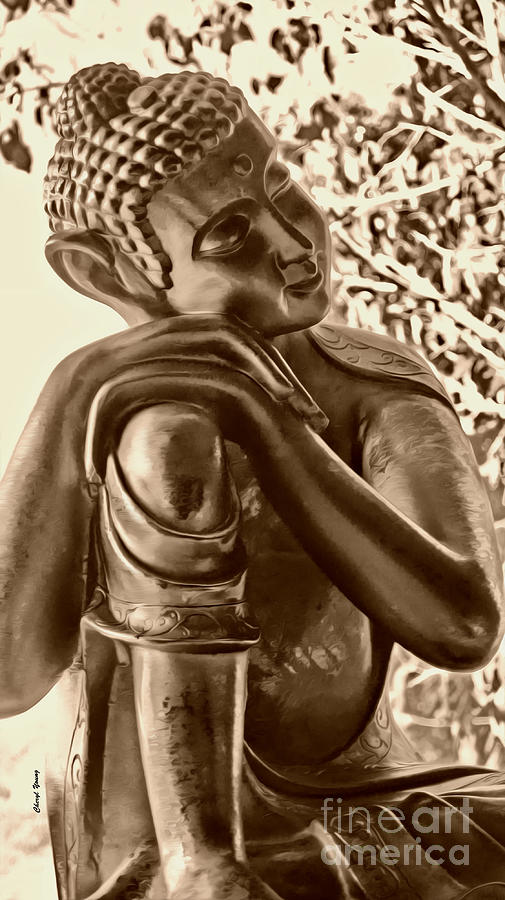 At Peace Sepia Photograph  - At Peace Sepia Fine Art Print