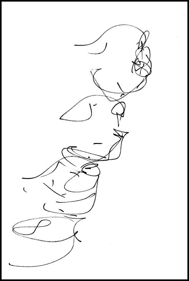 At The Ballet  2 - Chorus Line Drawing