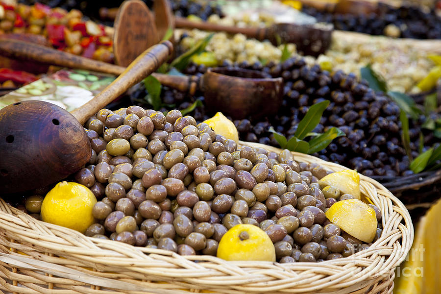 Olive Photograph - At The Market by Brian Jannsen