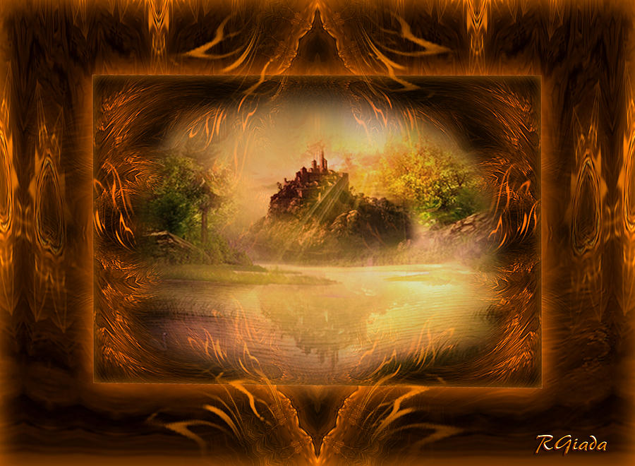 At The Museum Digital Art  - At The Museum Fine Art Print