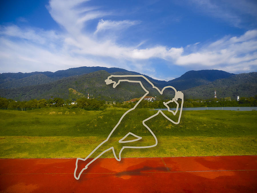 At The Running Track Photograph  - At The Running Track Fine Art Print