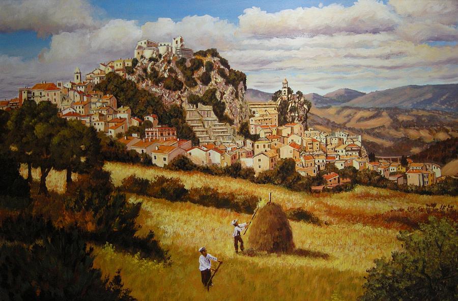 Bagnoli Del Trigno Italy  City pictures : ... Italian Town Painting At Work In Bagnoli Del Trigno Italy by Santo