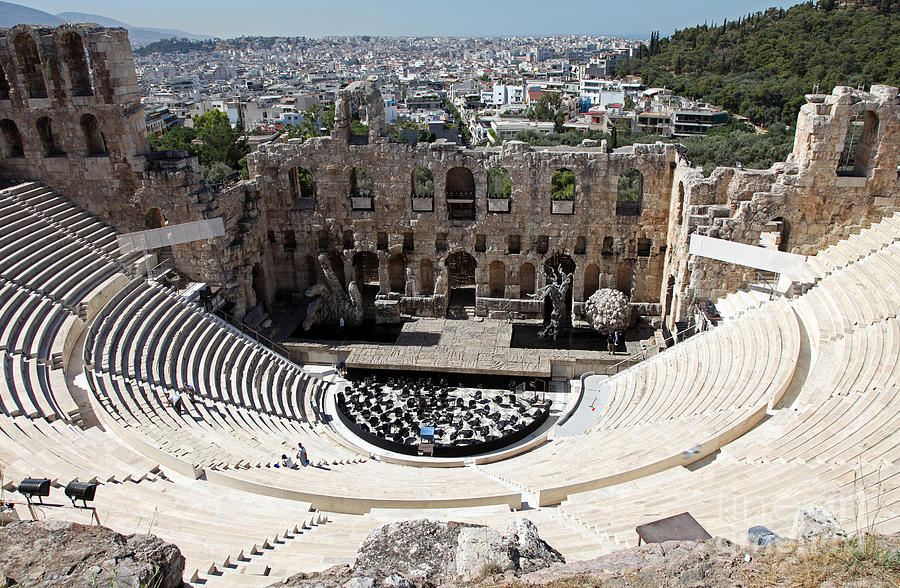 Athens Theatre Of Dionysus Photograph by Ros Drinkwater
